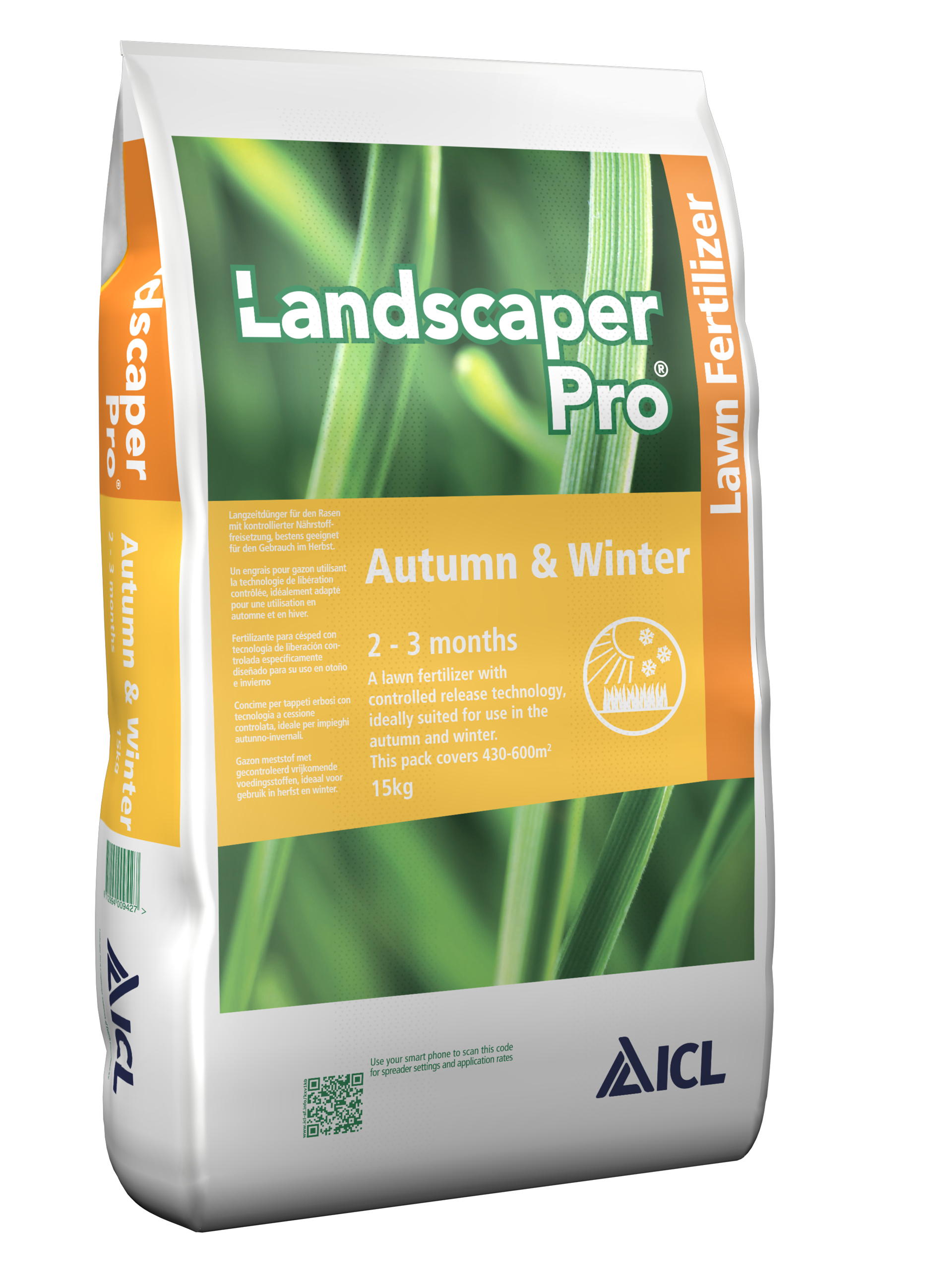Ingrasamant gazon Landscaper Pro AUTUMN&WINTER 12+05+20+5CaO+2MgO 2 LUNI